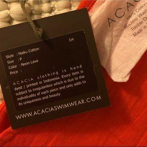 492cc71924da acacia swimwear Other - Acacia Haiku Romper size petite in Lava neon